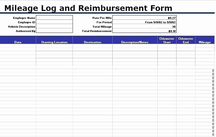 Mileage Log form for Taxes Fresh Mileage Log Sheet Printable Mileage Log Template Mileage