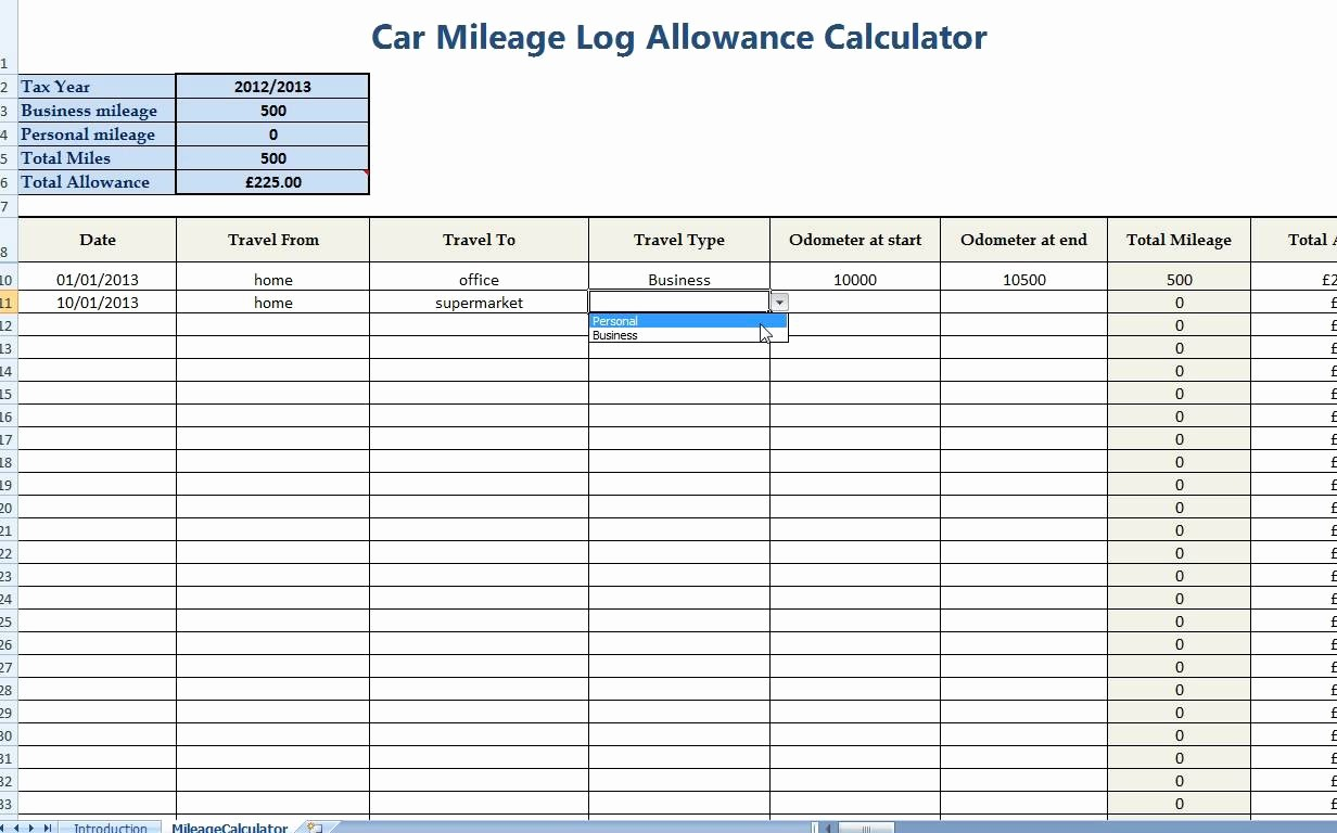 Mileage Log form for Taxes Lovely Irs Mileage Tracking Spreadsheet
