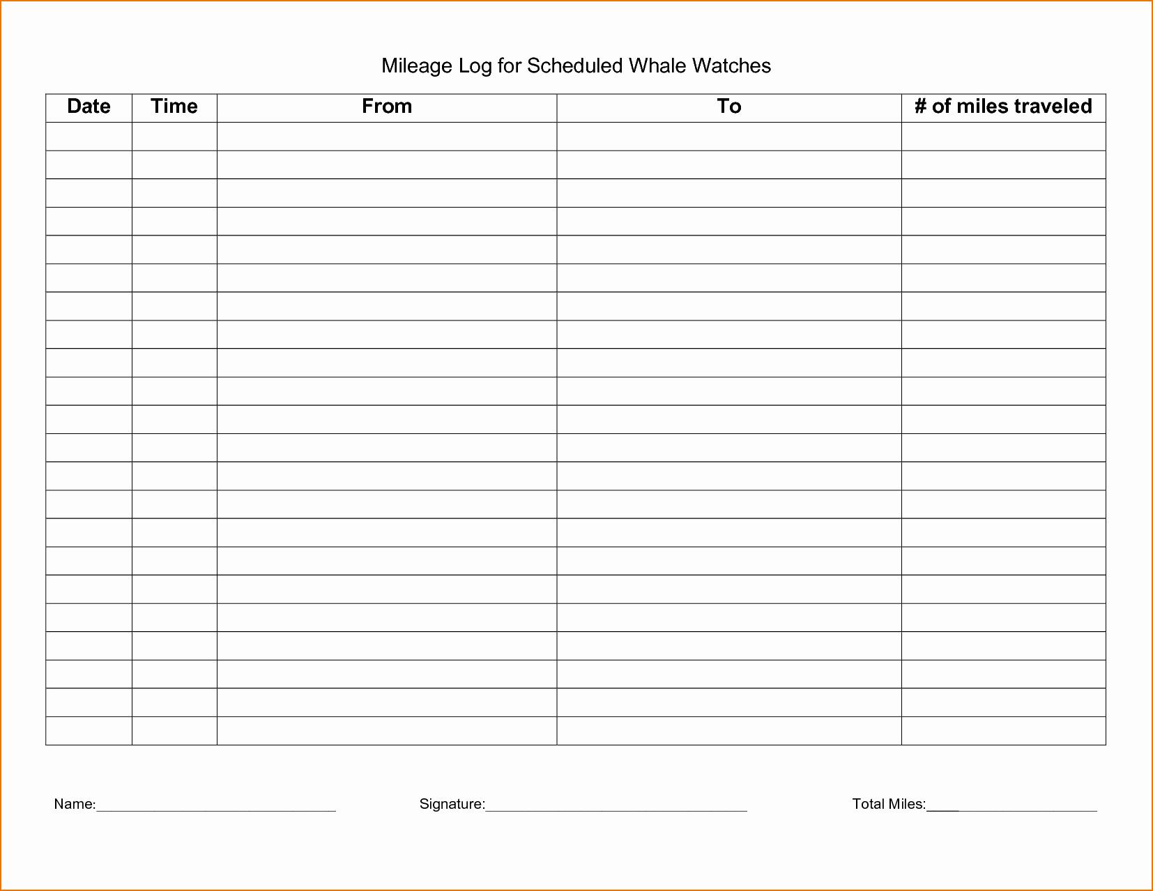 Mileage Log Sheet for Taxes Beautiful 5 Irs Mileage Log