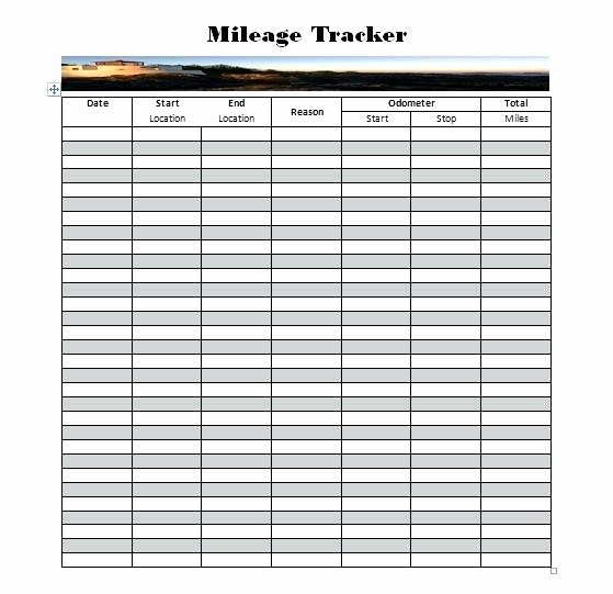 Mileage Log Sheet for Taxes Inspirational Mileage Log Sheet Printable Mileage Log Template Mileage