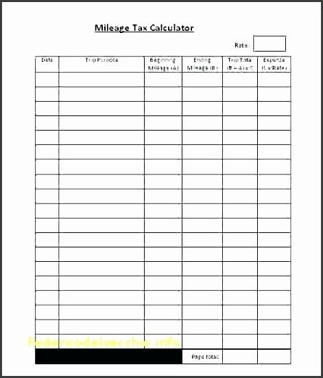 Mileage Log Sheet for Taxes Lovely Mileage Log Sheet Printable Mileage Log Template Mileage