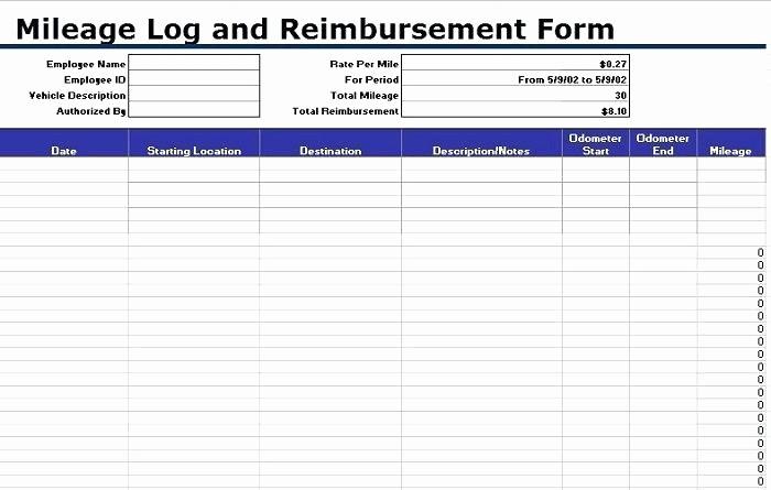 Mileage Log Sheet for Taxes New Mileage Log Sheet Printable Mileage Log Template Mileage