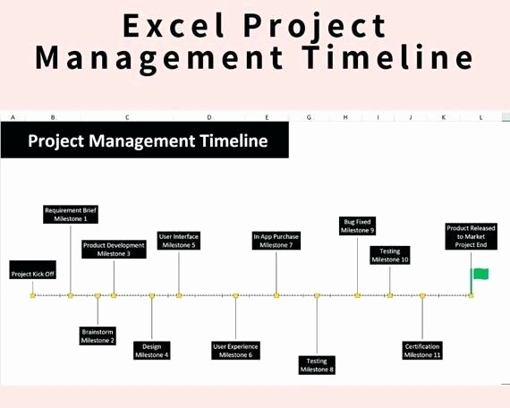 Milestone Chart In Project Management Awesome Excel Project Management Simple Milestone Timeline Image 0