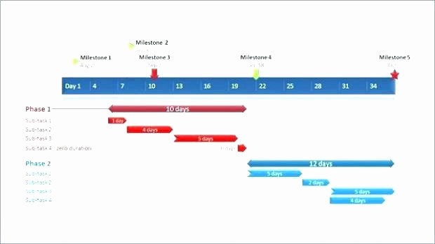 Milestone Chart In Project Management Awesome Project Milestone Chart Template