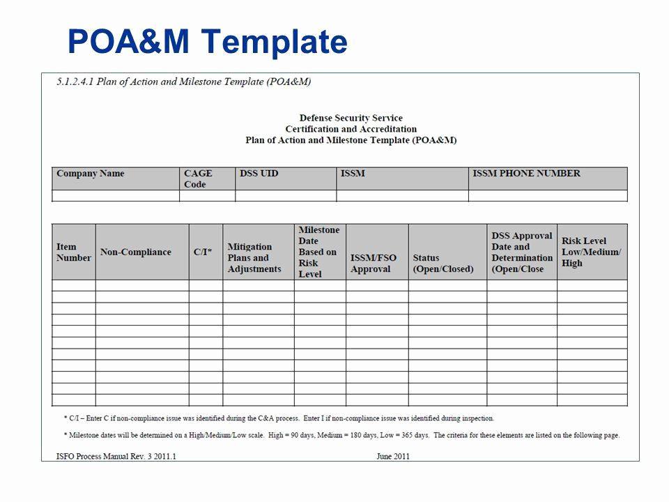 Milestone Plan Template In Excel Best Of Poa M Template Xls Poa M Dates Task Poc Status 25 Aug 13