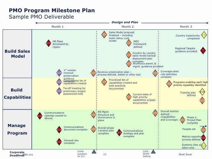 Milestone Plan Template In Excel Lovely Pmo Program Milestone Plan Sample Pmo Deliverable