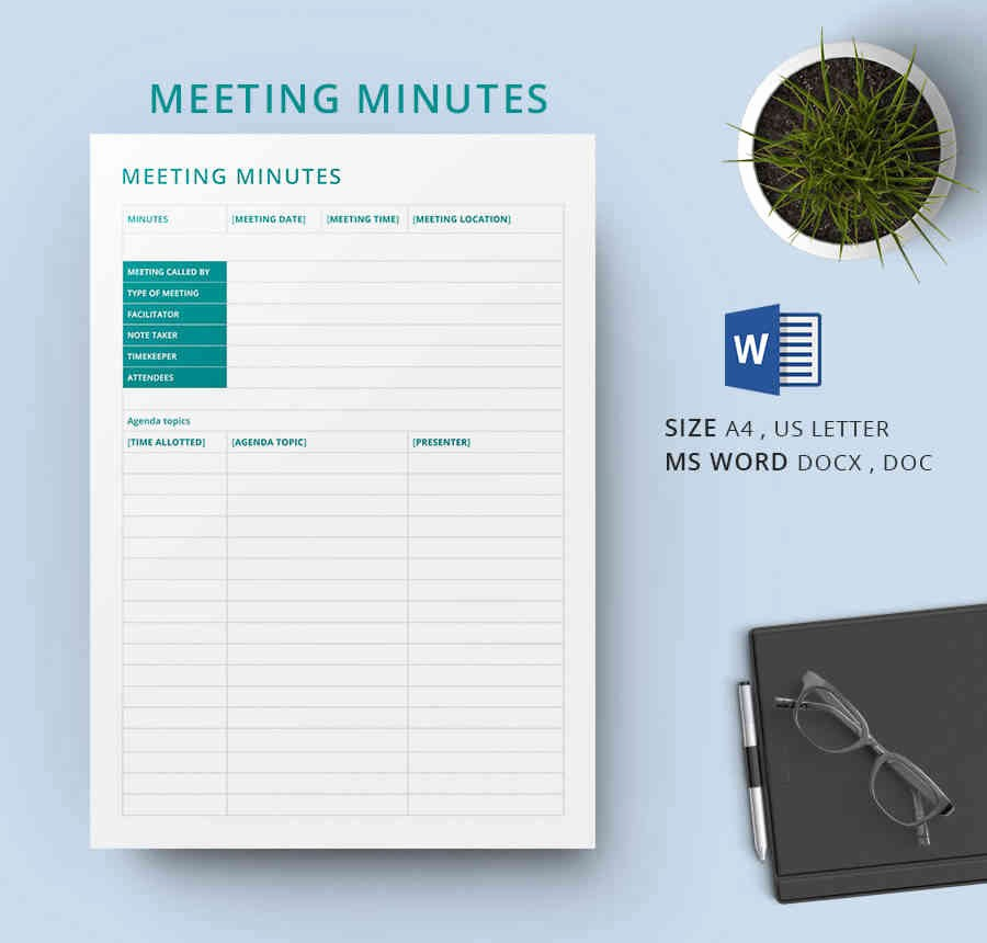 Minutes Of A Meeting Template Awesome 19 Meeting Minutes Template Free Samples Examples