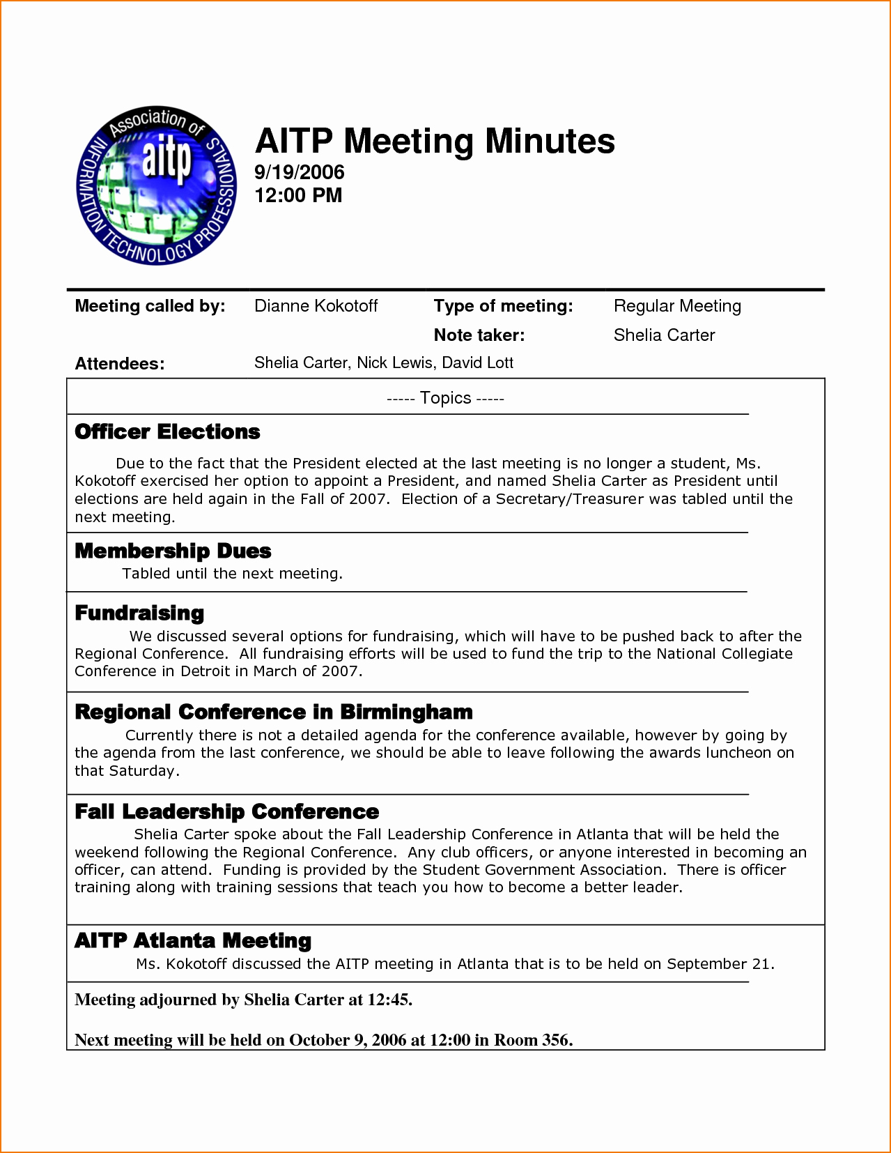 Minutes Of A Meeting Template Awesome 4 Sample Meeting Minutes Template