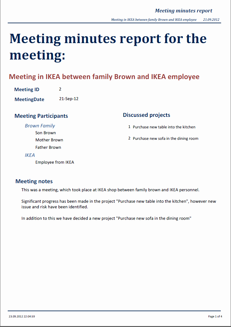 Minutes Of A Meeting Template Best Of Miraapt tool