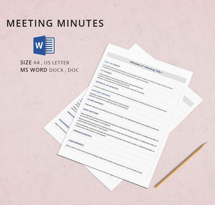 Minutes Of A Meeting Template Inspirational 19 Meeting Minutes Template Free Samples Examples