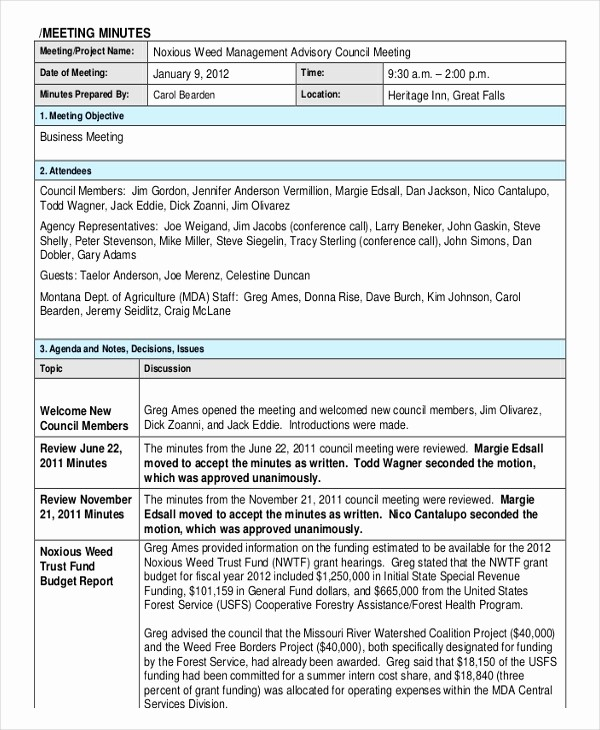 Minutes Of Meeting Corporate format Awesome 18 Corporate Minutes Template Free Sample Example