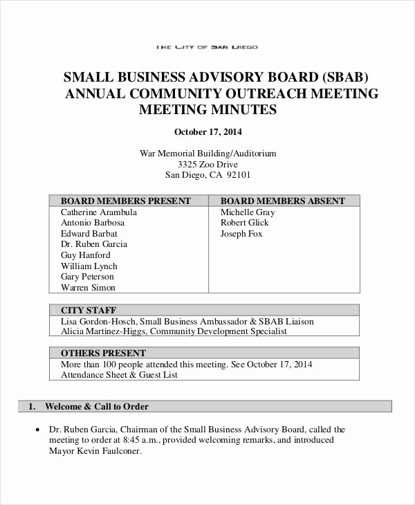 Minutes Of Meeting Corporate format Best Of Annual Meeting Minutes Template 10 Pdf Word Google