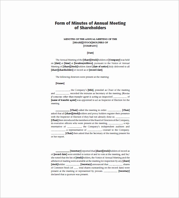 Minutes Of Meeting Corporate format Lovely Corporate Meeting Minutes Templates – 12 Free Sample