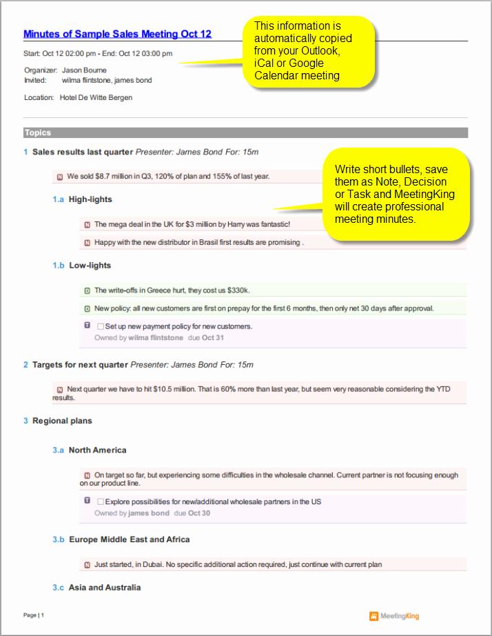 Minutes Of Meeting Report Sample Fresh Sample Sales Meeting Minutes Template