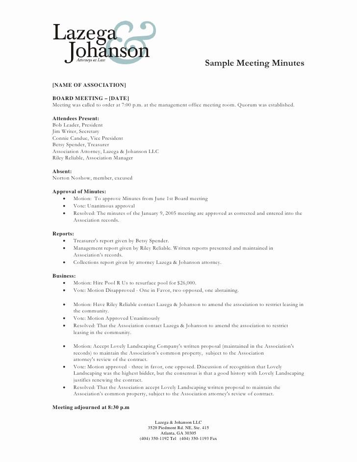 Minutes Of the Meeting Sample Elegant Sample Of Minutes Of Meeting