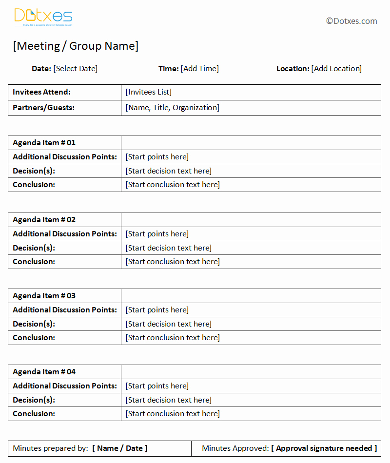 Minutes Of the Meeting Template Best Of General Meeting Minutes Template Dotxes