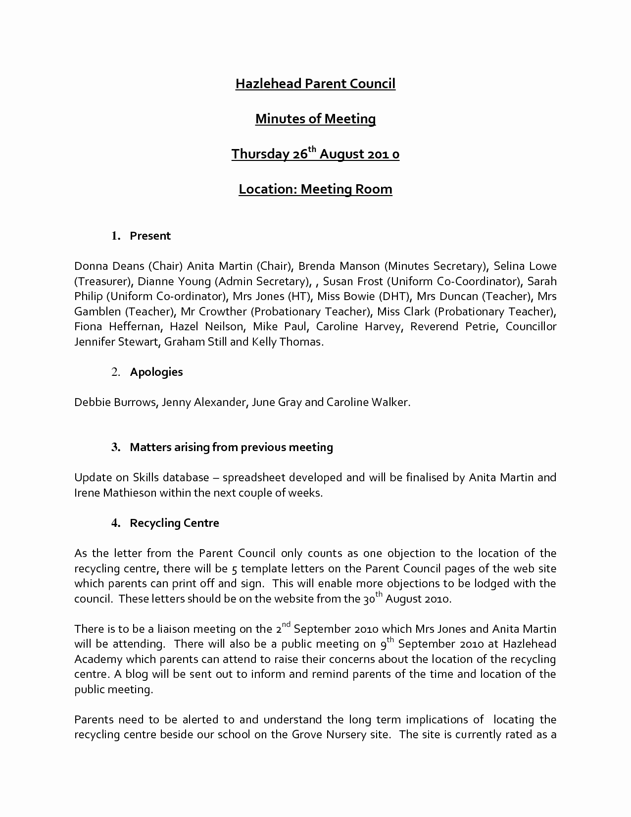 Minutes Of the Meeting Template New Agenda Word Template Example Mughals