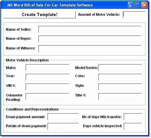 Mississippi Vehicle Bill Of Sale Best Of Ms Word Bill Of Sale for Car Template so Ware Version