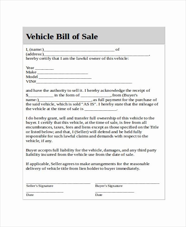 Mississippi Vehicle Bill Of Sale Elegant 15 Mississippi Bill Of Sale