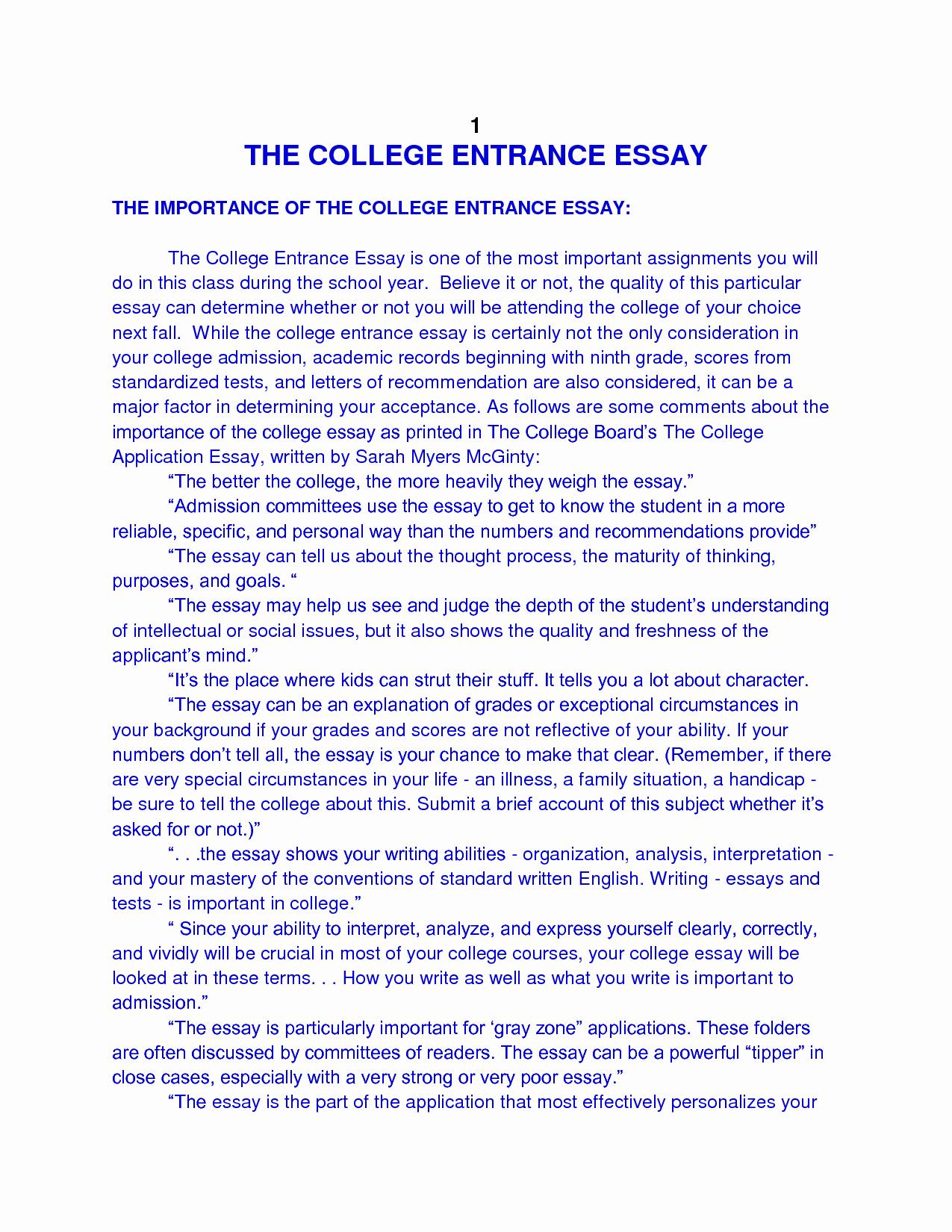 Mla format for College Essay Inspirational 49 College Entrance Essay Samples format for College