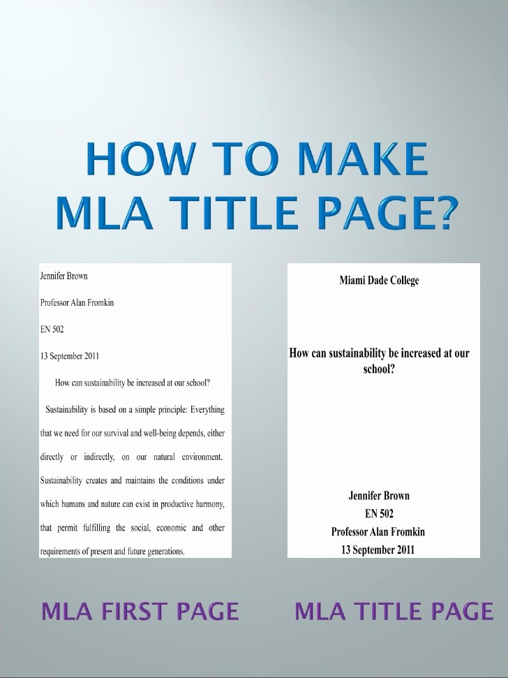 Mla format for College Essay Unique Mla Title Page Step by Step