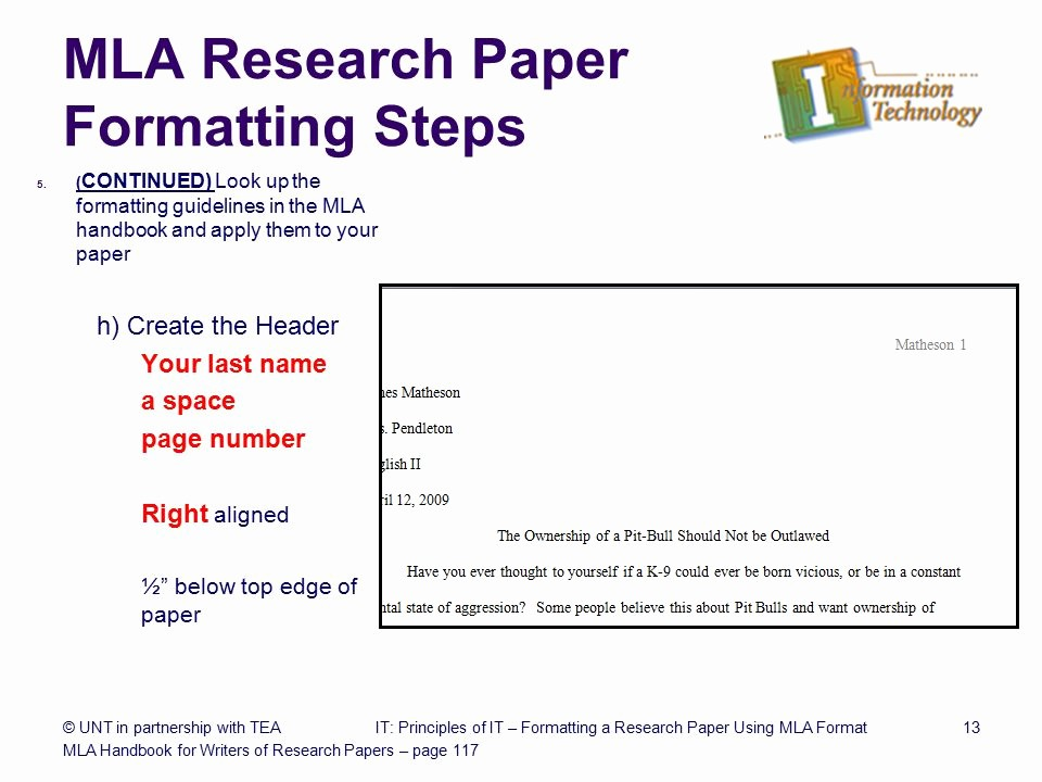 Mla format for Research Papers Unique formatting A Research Paper Ppt