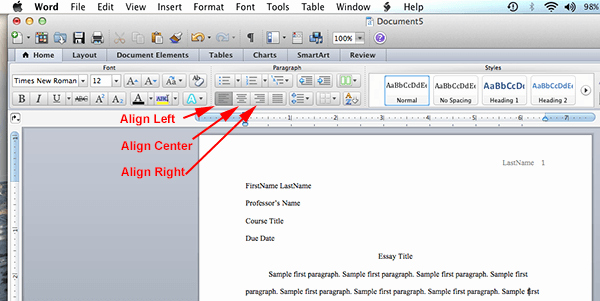 Mla format In Word 2010 Best Of Mla format Microsoft Word 2011 – Mac Os X Mla format