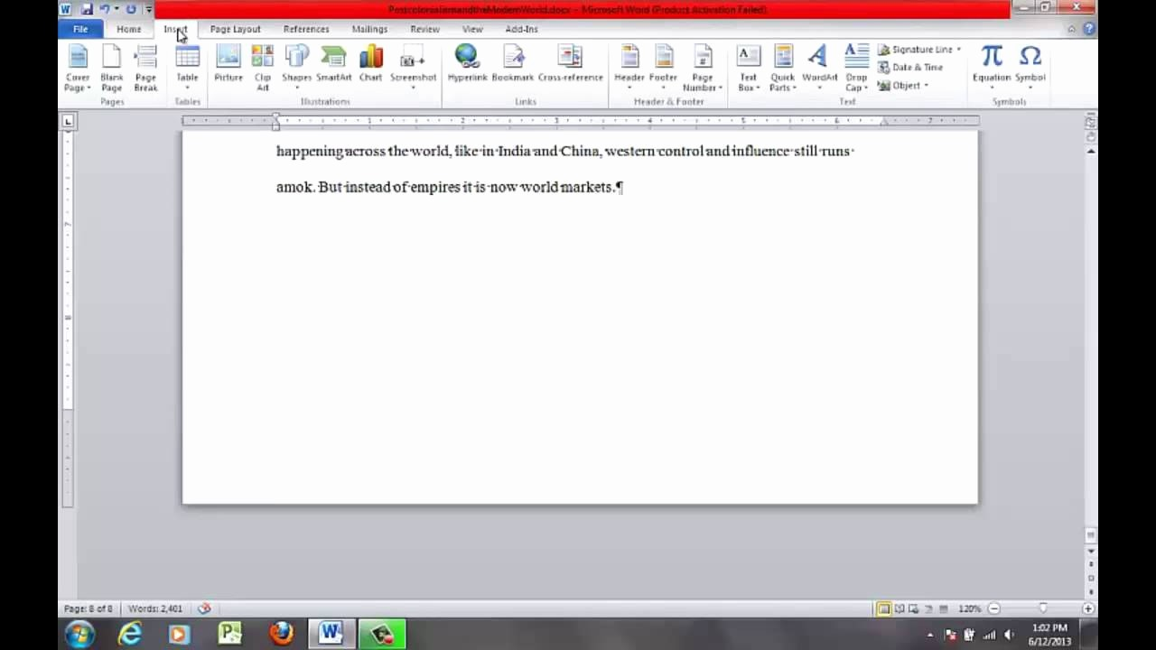Mla format In Word 2010 Elegant How to format the Mla Essay In Ms Word 2010 Work Cited