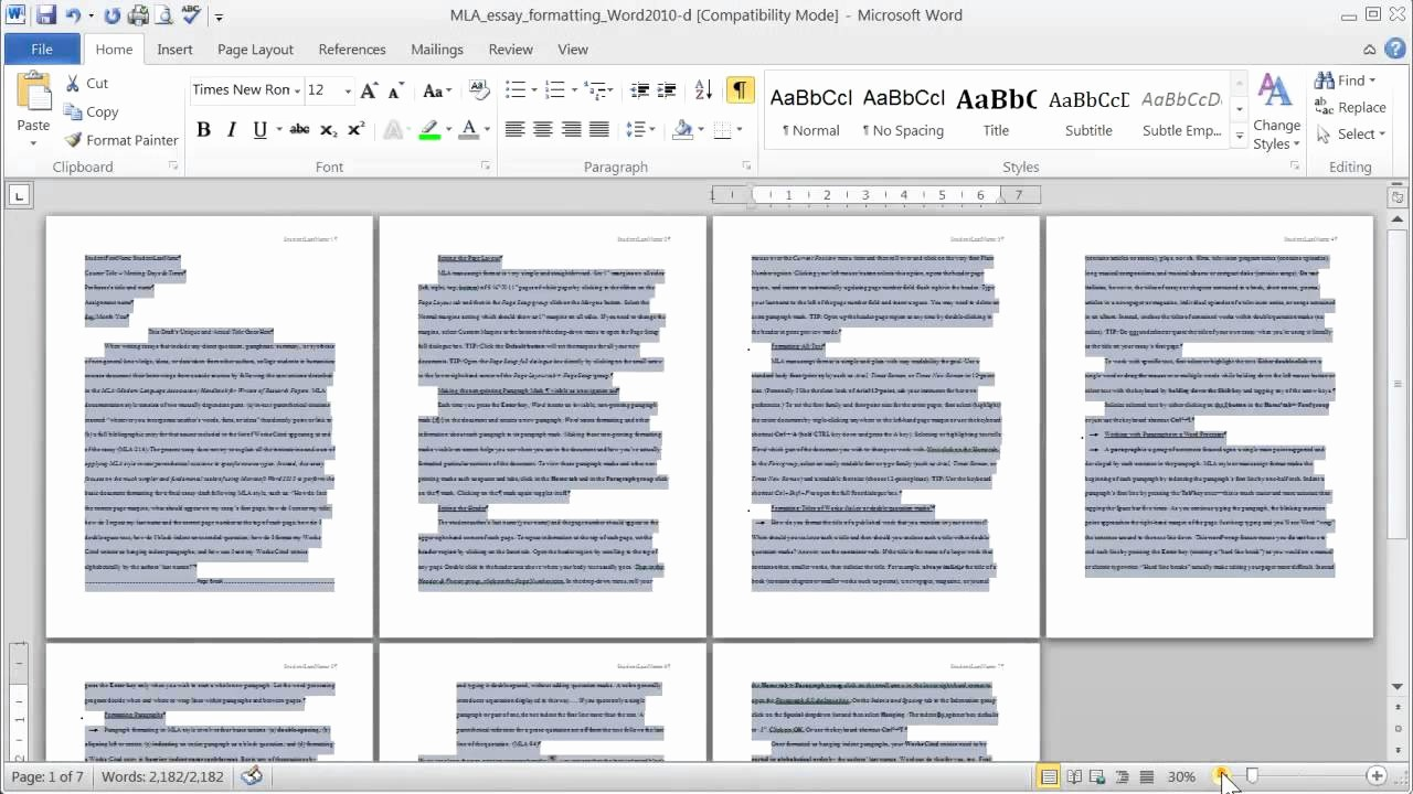 Mla format In Word 2010 Unique Mla Margins Font Face and Size Double Line Spacing In