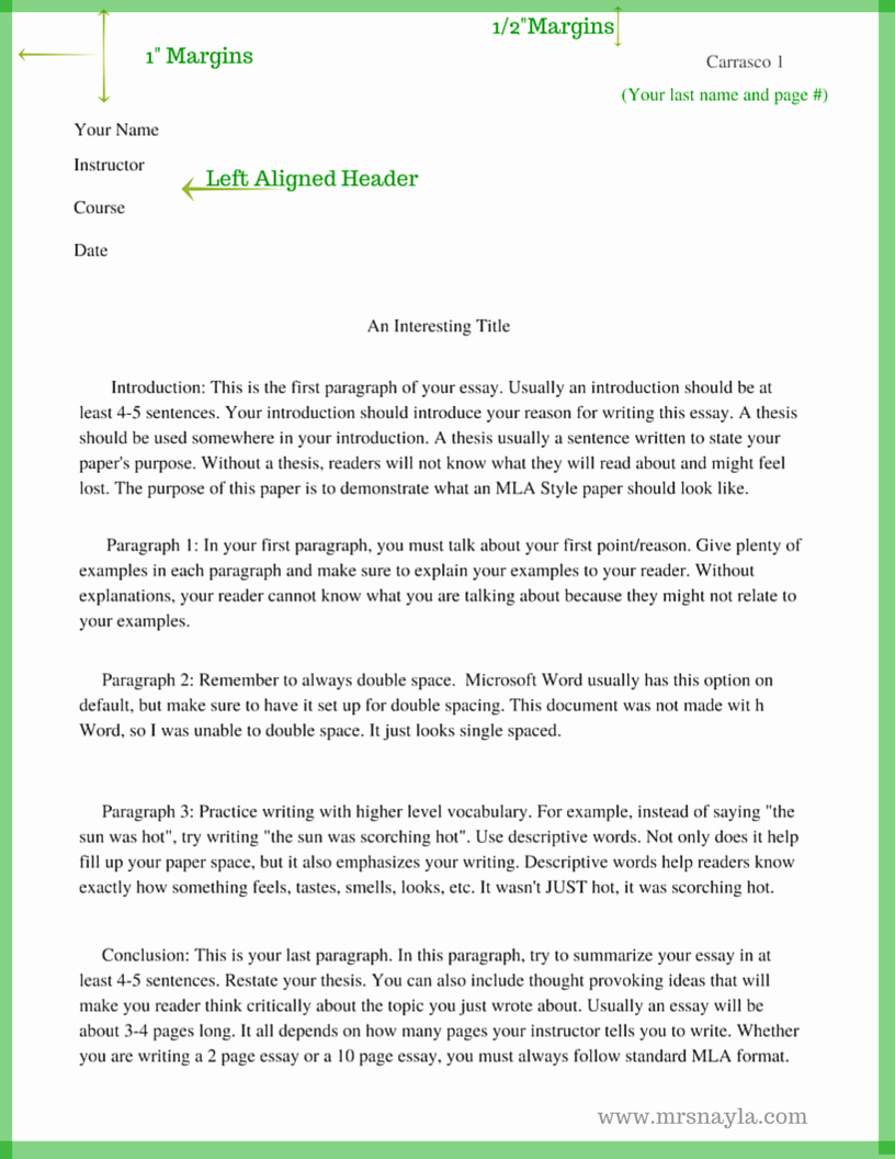 Mla format Of A Paper Awesome the Basics Of Mla Style