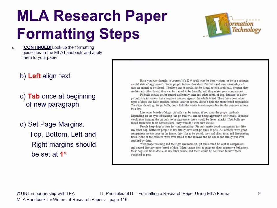 Mla format Of A Paper Elegant formatting A Research Paper Ppt