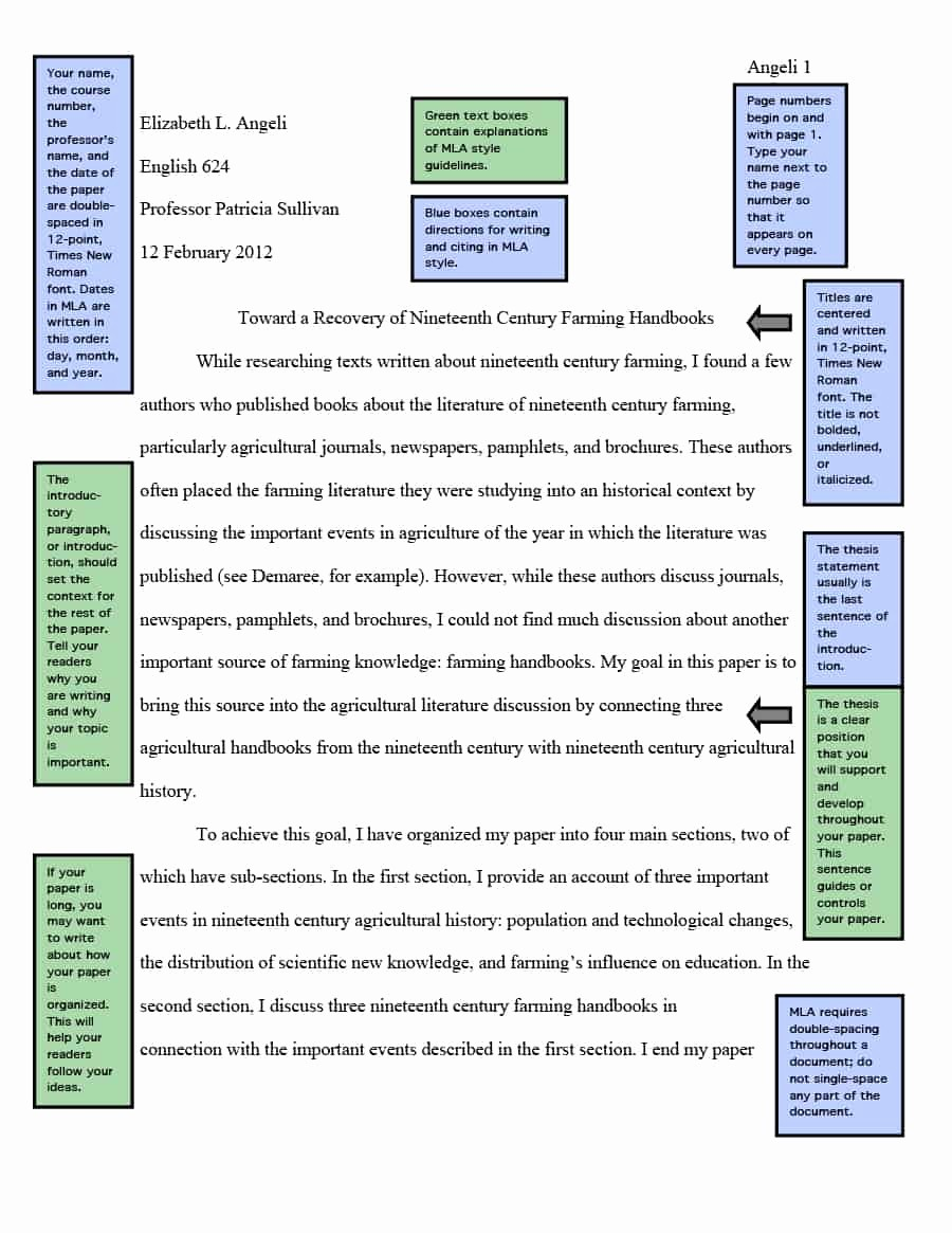 Mla format Of A Paper Luxury 38 Free Mla format Templates Mla Essay format