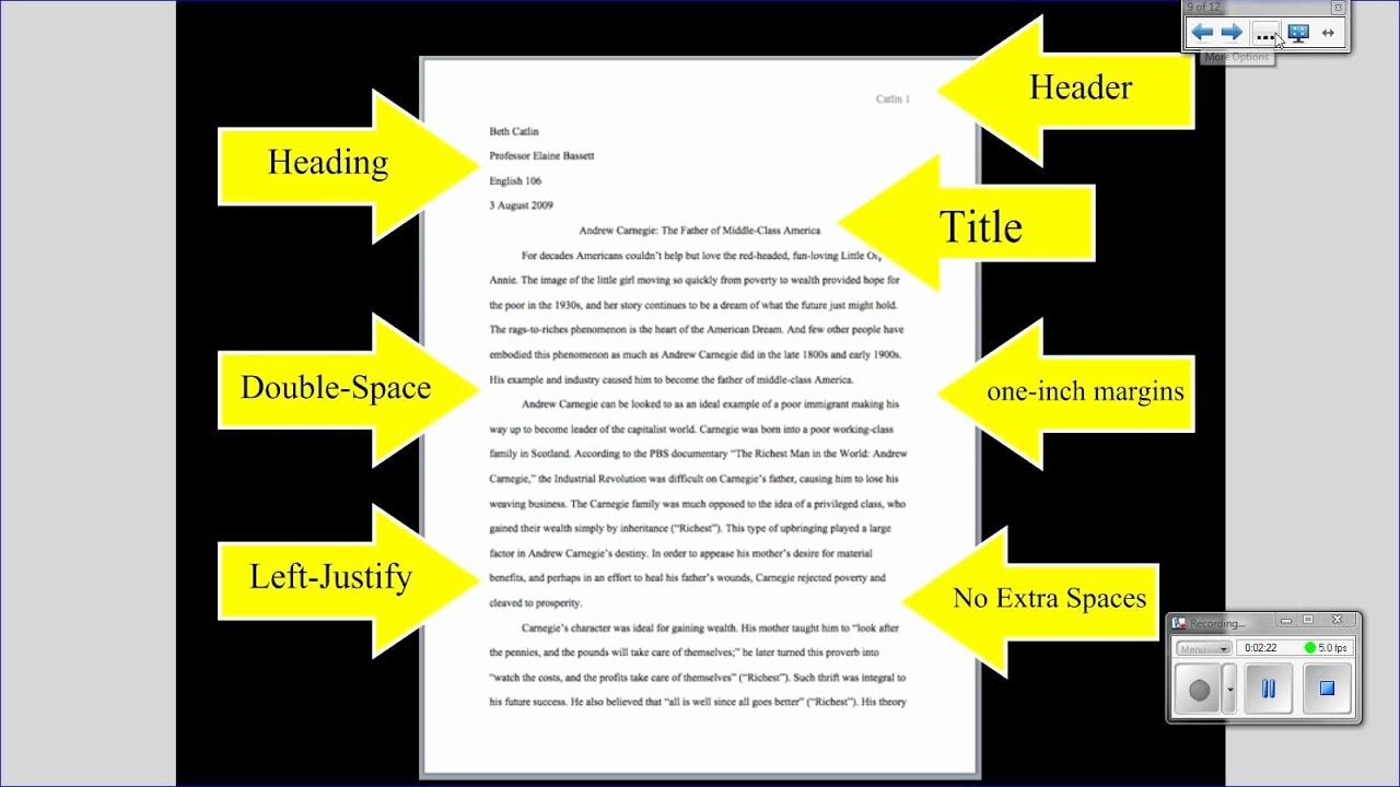 Mla format Of A Paper Unique Mla Tutorial 1 Basic Paper formatting