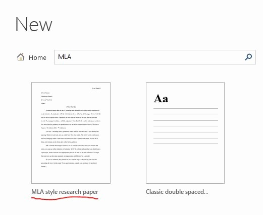 Mla format On Word 2016 Beautiful Mla Template Word formal Mla Beautiful Template Design Ideas