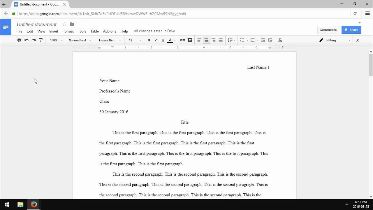 Mla format On Word 2016 Unique Google Docs Mla format Essay 2016