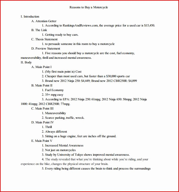 Mla format Outline for Speech Awesome Best S Of Persuasive Speech Outline Template Mla