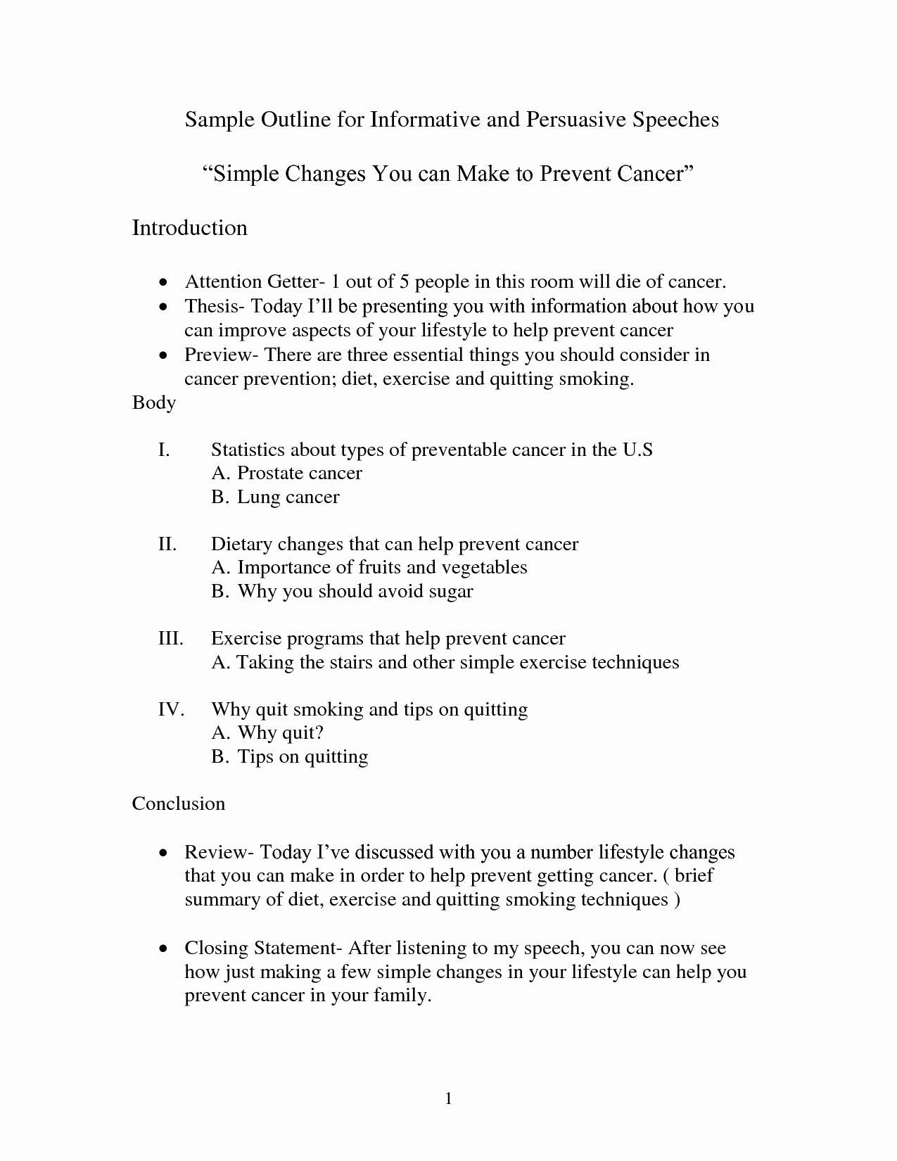 Mla format Outline for Speech Inspirational Best S Of Persuasive Speech Outline form Persuasive