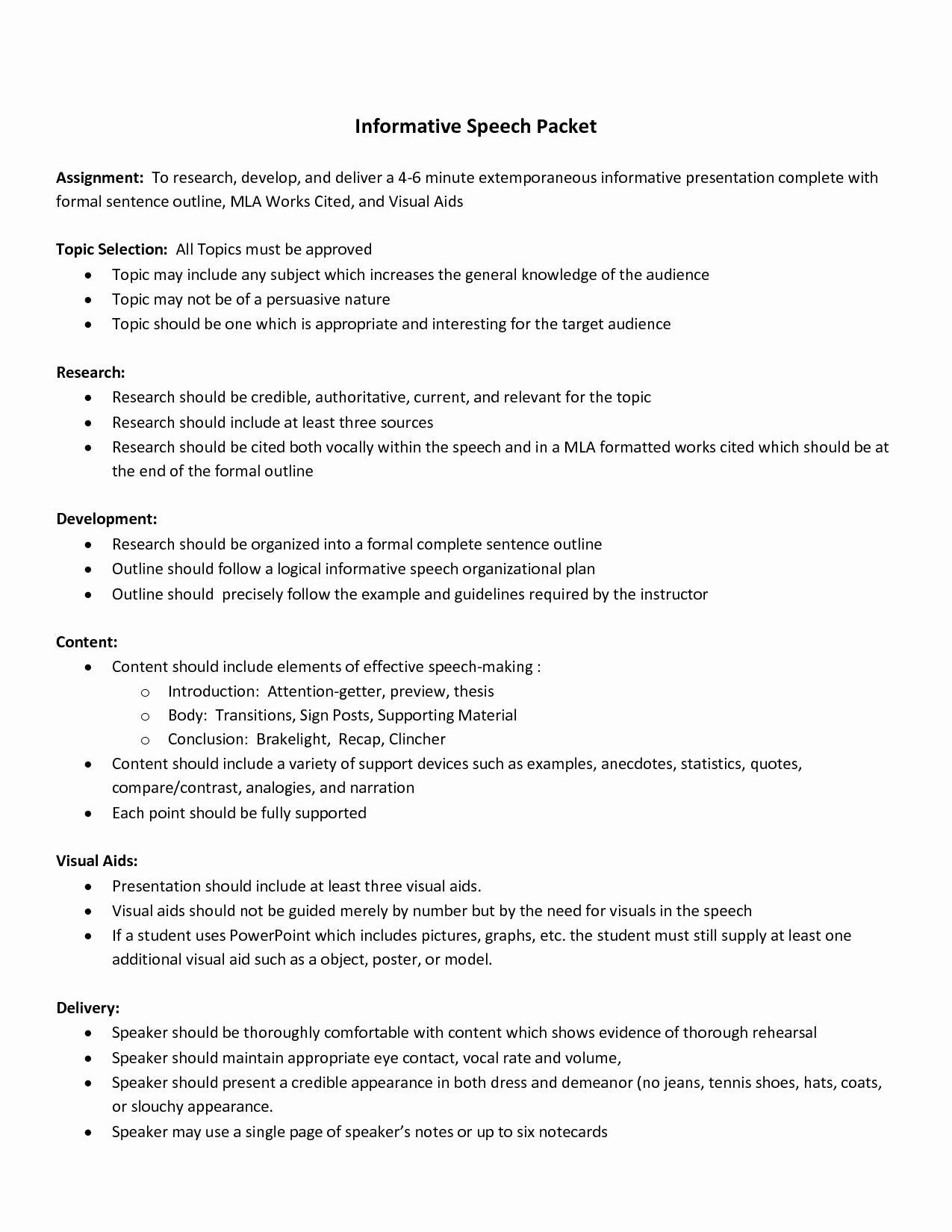 Mla format Outline for Speech Lovely Best S Of Informative Speech In Mla format