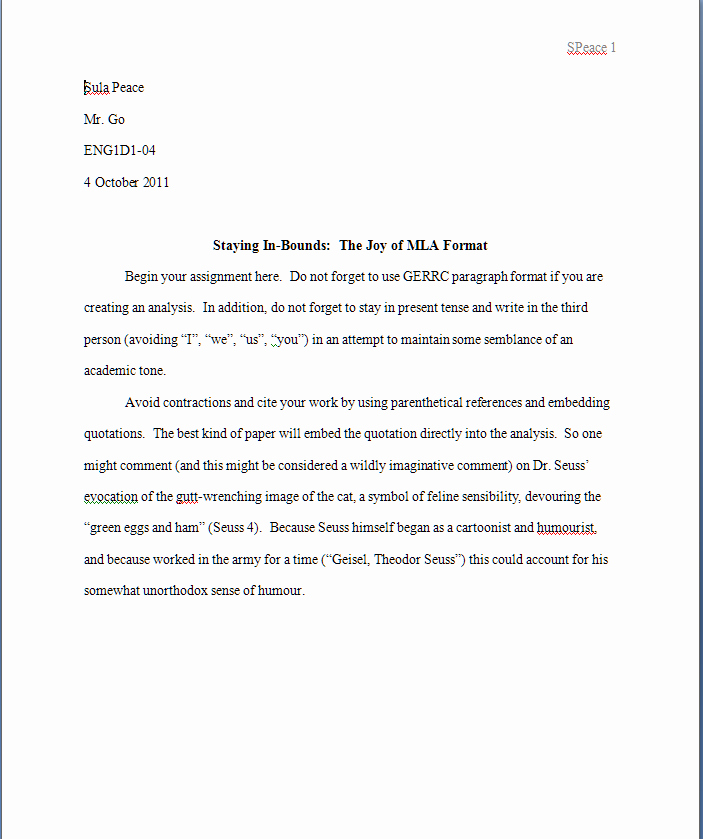 Mla format Research Paper Template New Mla format Template