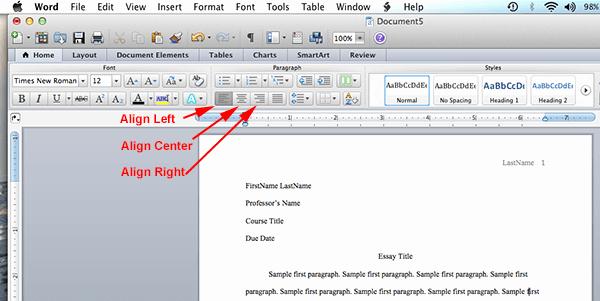 Mla format Word 2010 Template Lovely Mla format Microsoft Word 2011 – Mac Os X Mla format