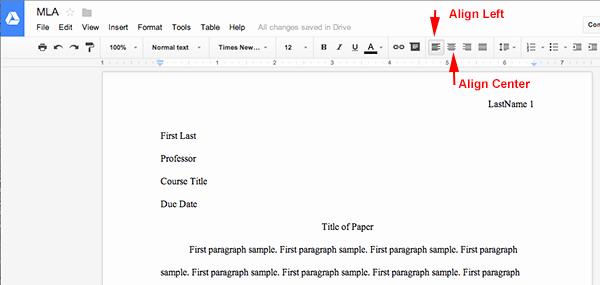 Mla format Word 2013 Template New Mla format Using Google Docs