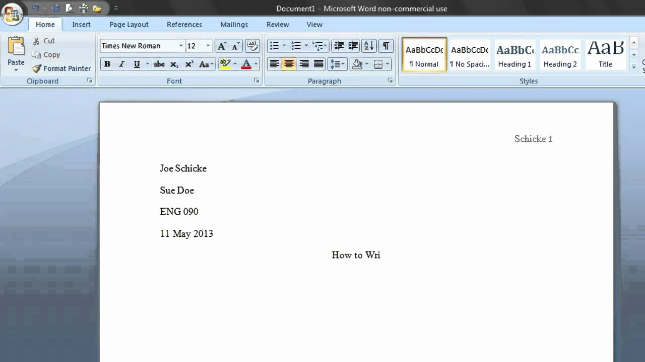 Mla format Word 2013 Template New Mla Word Template