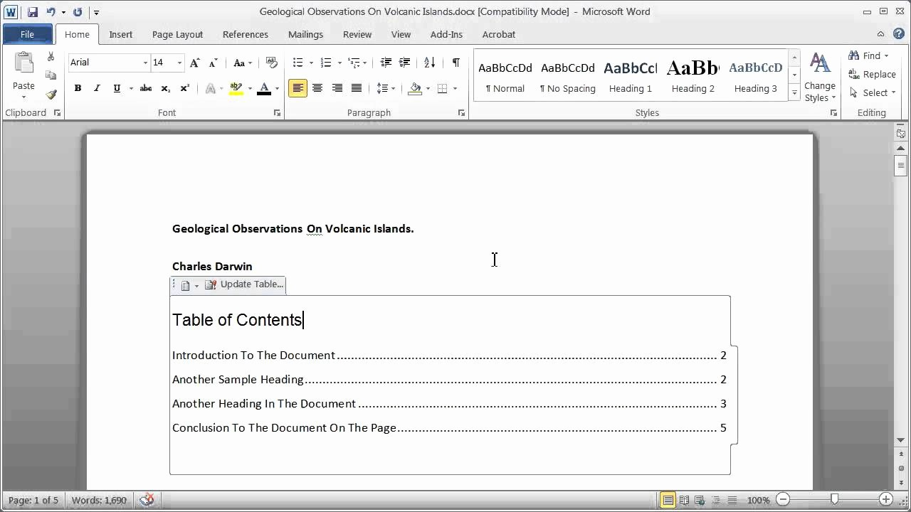 Mla format Word 2013 Template Unique Table Of Contents Word 2013 Template Maxresdefault