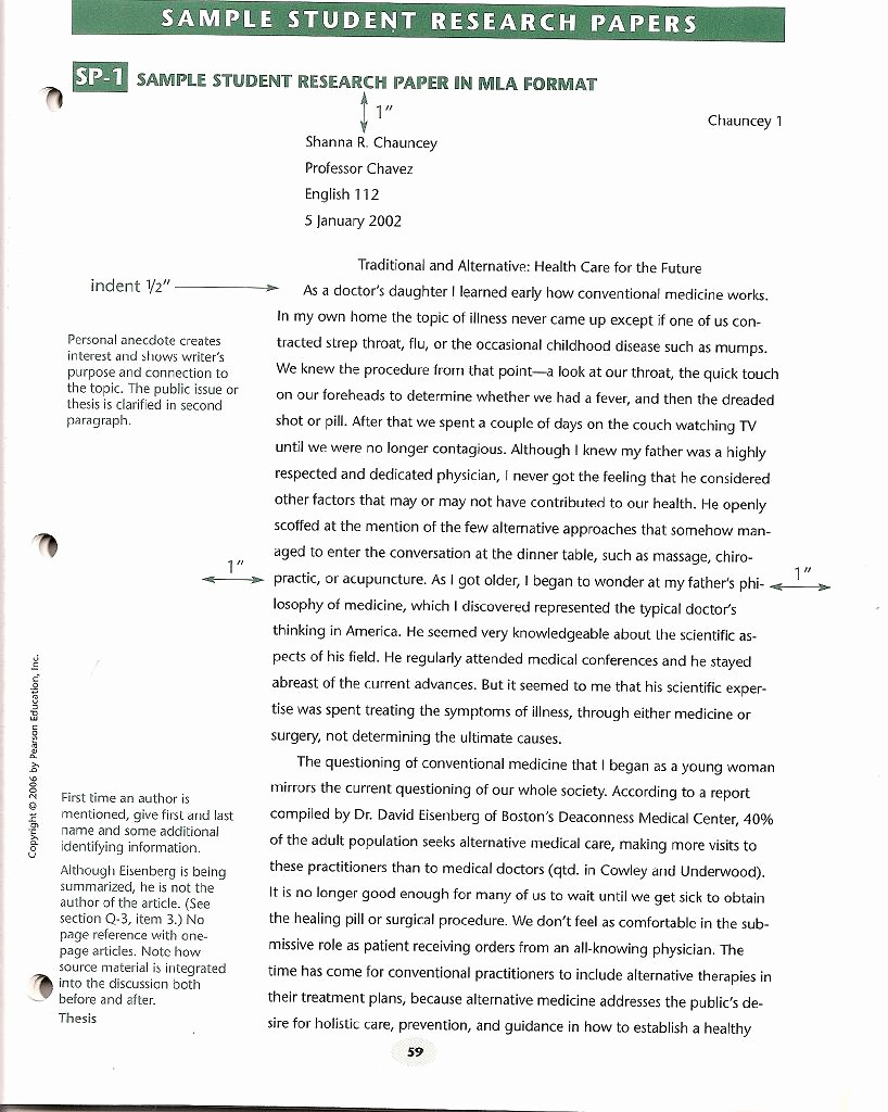Mla formatted Research Paper Example Unique the Basics Of A Research Paper format College Research