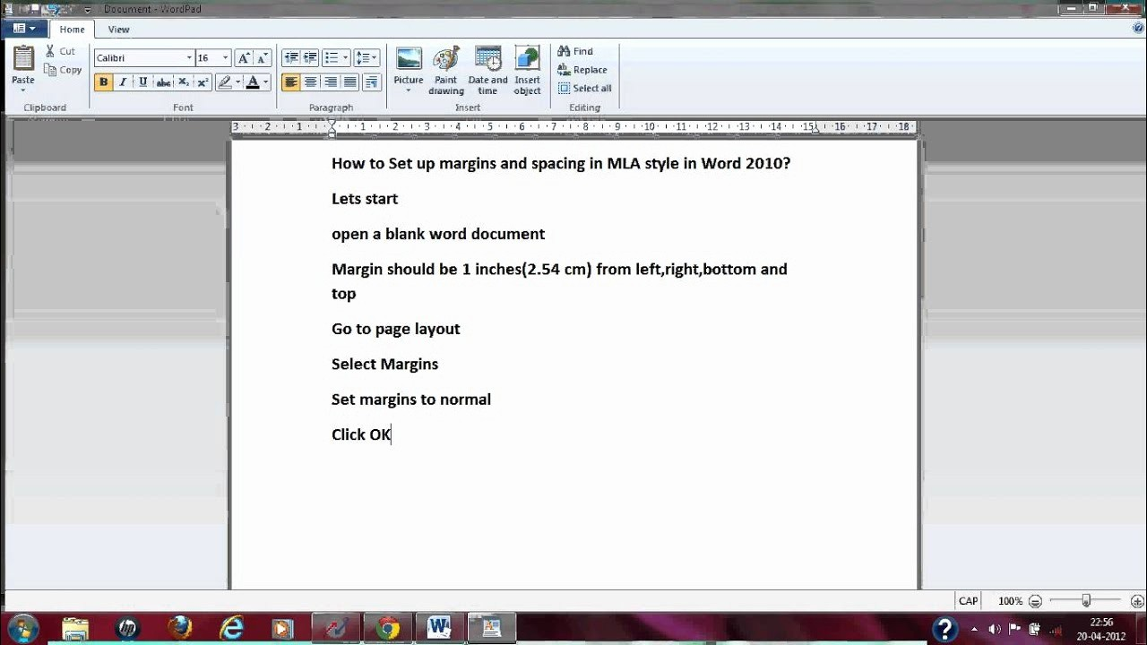 Mla formatting In Word 2010 Awesome How to Set Up Margins and Spacing In Mla format In Word