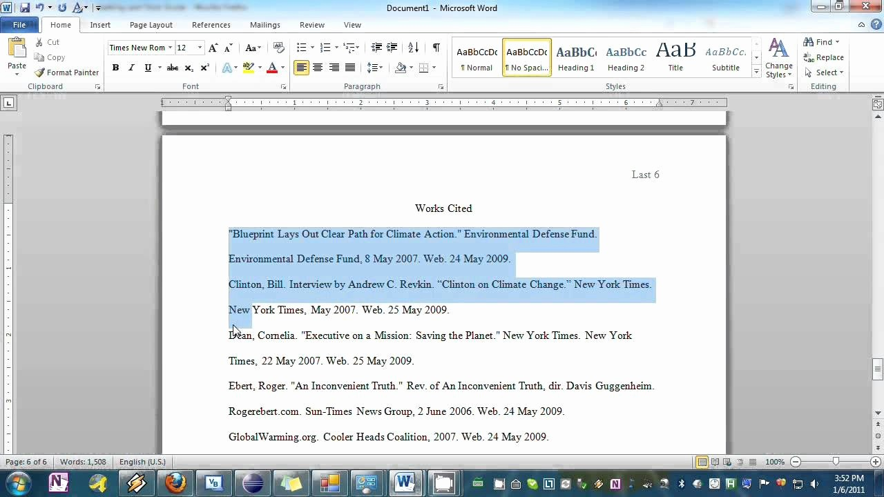 Mla formatting In Word 2010 Unique How to Cite In Mla format Microsoft Word 2010