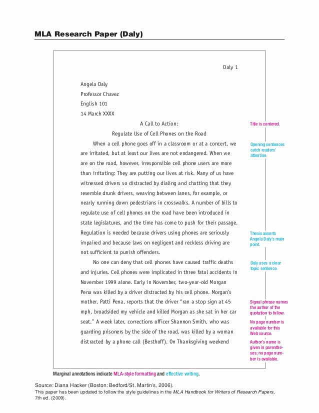 Mla Style Research Paper format Beautiful Sample Mla Research Paper
