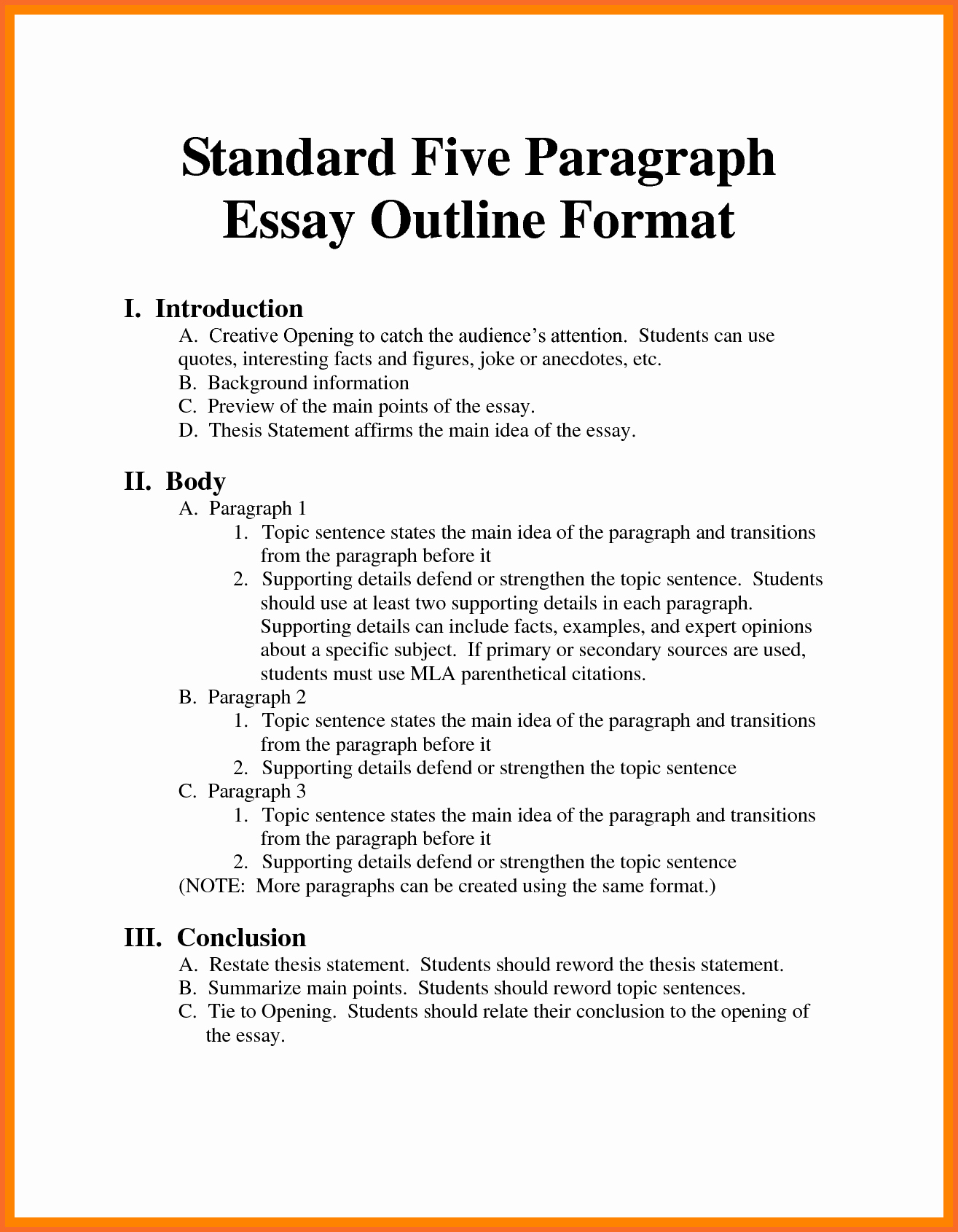 Mla Style Research Paper format Inspirational Sample Outline Mla format Research Paper Bamboodownunder