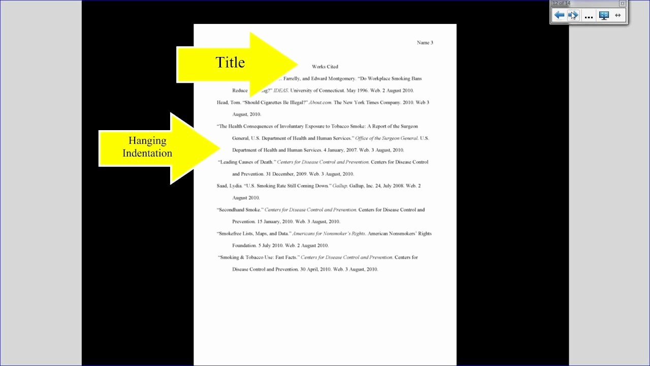 Mla Works Cited Page Template Best Of Mla Tutorial 3 Works Cited Page formatting