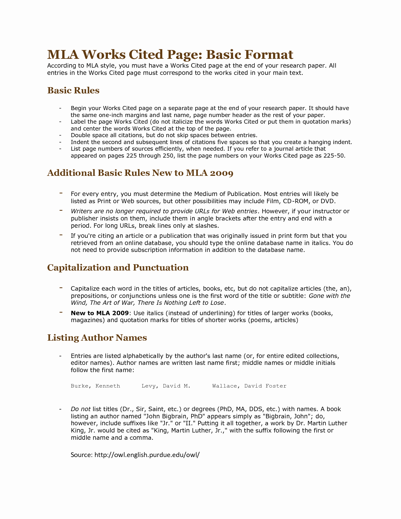 Mla Works Cited Page Template Elegant Best S Of Standard Mla format Example Mla format